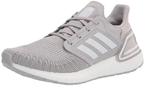 adidas mens Ultraboost 20 Running Shoe, Grey/White/White, 8 US