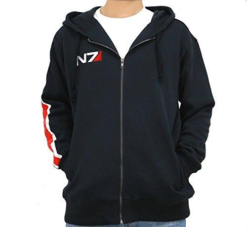 Xcoser Kostüm Cosplay N7 Herren Hoodie Jacke Sweatshirt Aktualisierte Version (L)