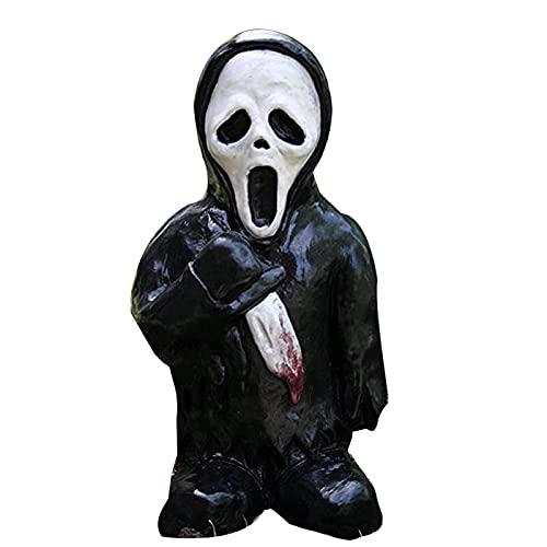flou Adornos Enanos Zombies Decoración Artesanal De Resina De Halloween Atrezzo Llamativo De La...