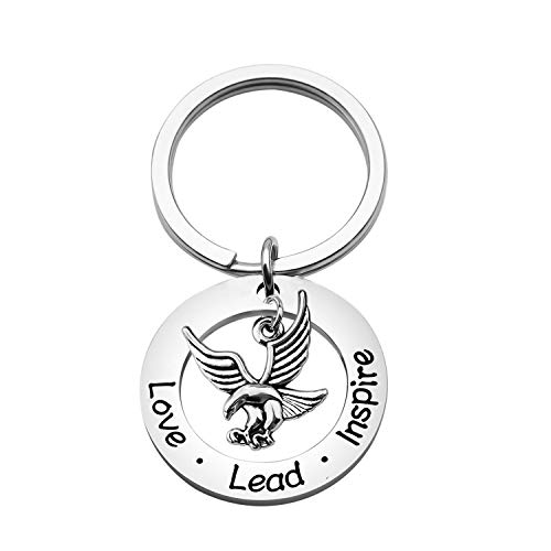 WSNANG Eagle Gift for Boy Scout Leader Love Lead Inspire Keychain Eagle Court of Honor Gift Ceremony Scoutmaster Gift (Love Lead Inspire Keychain)