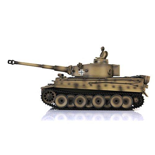 Henglong 1/16 Scale Yellow TK6.0S Plastic Ver German Tiger I RTR RC Tank 3818 Model