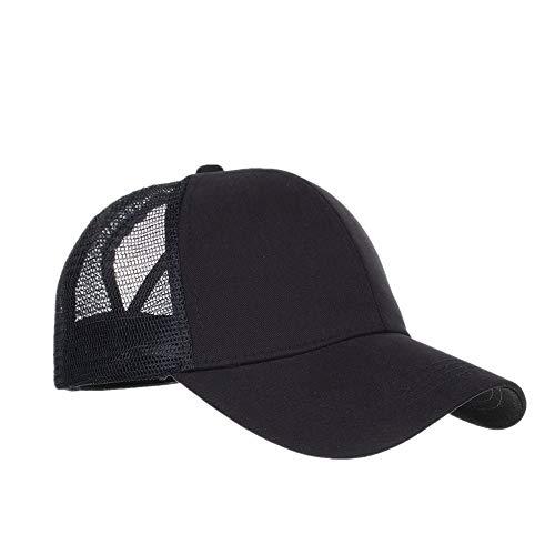 DOLDOA Hut Damen Sommer,Womens Mens Cotton Bestickte Unisex Baseball Caps einstellbar (Schwarz)