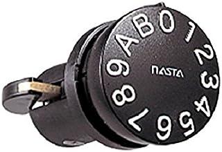 ナスタ 静音大型ダイヤル錠 タテ型 集合郵便受箱用錠前 ブラック MPK-10 1個