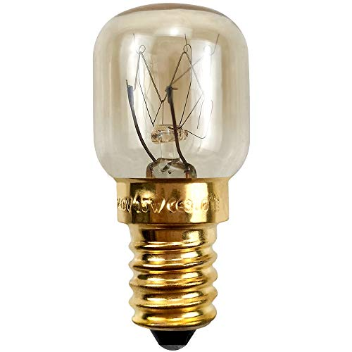 BrightBulb Ampoules Four E14 15W 25W 220V Pour Les Applications Hotte Réfrigérateur Four À Micro-Ondes-D'or-15W
