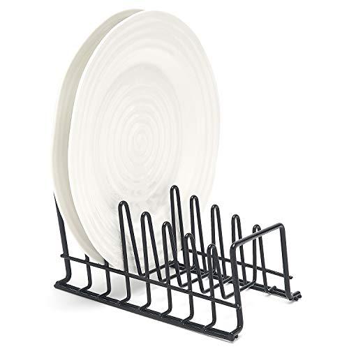 simplywire - Plate Rack/Drainer - Kitchen Cupboard Storage Organiser - Black - Small