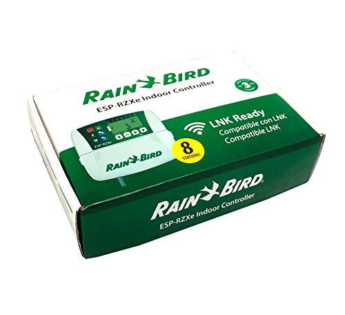 Rain Bird Programador de riego de 8 estaciones ZRZ008E - ESP-RZXe de uso en interiores. Compatible con módulo estándar Wifi LNK. Incluye transformador y manual de instrucciones