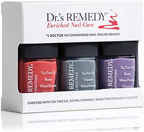 Dr s REMEDY Enriched Nail Polish HAPPY HEALTHY Harvest Trio ALTRUISTIC Auburn AMITY Amethyst product image