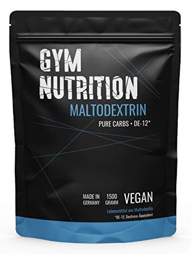 GYM-NUTRITION Hardcore Malto-dextrin   Feines Kohlenhydrate Pulver   Beliebt bei Fitness Powerlifing & Bodybuilding   Ideal für Hardgainer   Made in Germany   Maltodextrin 12   1,5 kg Beutel