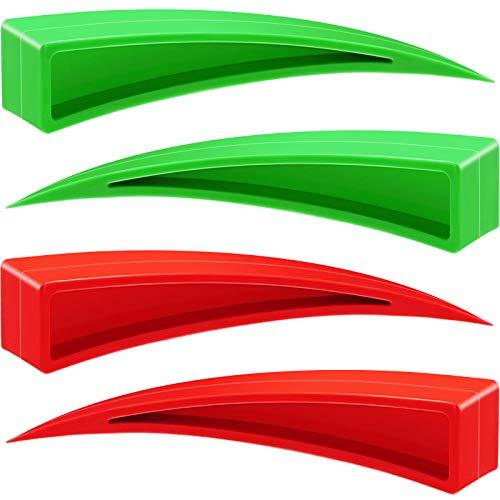4 Cuñas Curvas de Ventana Herramientas de Reparación de Abolladuras sin Pintura Herramienta de Cuña de Puerta de Coche de Plástico Herramienta de Eliminación de Abolladuras