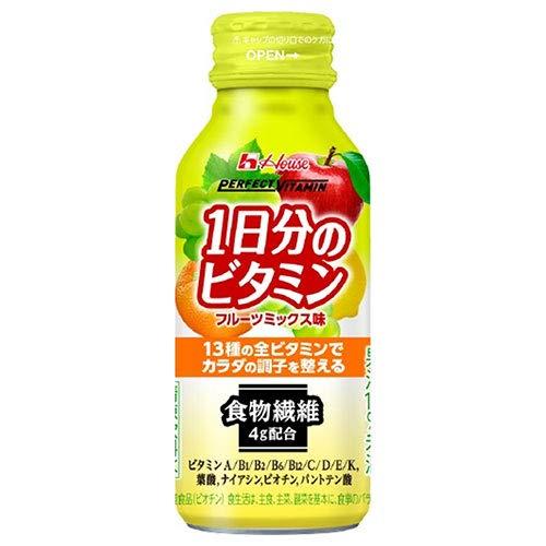 ハウスウェルネス PERFECT VITAMIN(パーフェクトビタミン) 1日分のビタミン 食物繊維 120mlボトル缶×30本入×(2ケース)