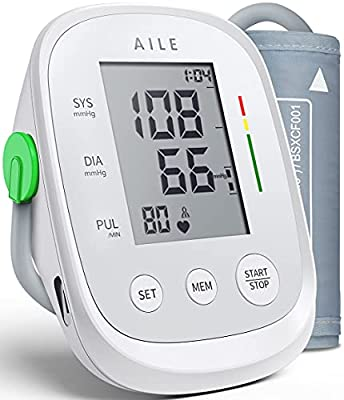 """[2021] AILE Blood Pressure Monitors for Home Use, Blood Pressure Machines for Home Use, Blood Press Monitor Upper Arm Large Cuff 8.7""""-16.5"""" ( Blood-Pressure Monitor Large Cuff ), 2*99 Readings"""