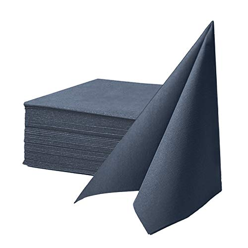 KMAKII Navy Blue Disposable Dinner Napkins Linen-Feel Colored Paper Napkins Premium Cloth Like Napkins Ideal For Restaurant, Events, Weddings&Party,50 Pack 16 x 16 inches