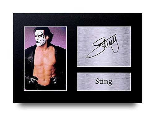 HWC Trading Sting A4 Ungerahmt Signiert Gedruckt Autogramme Bild Druck-Fotoanzeige Geschenk Für WWE Wrestling-Fans