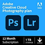 Adobe Creative Cloud Photography plan 1 TB (Photoshop + Lightroom)| 12-month Subscription with auto-renewal, PC/Mac
