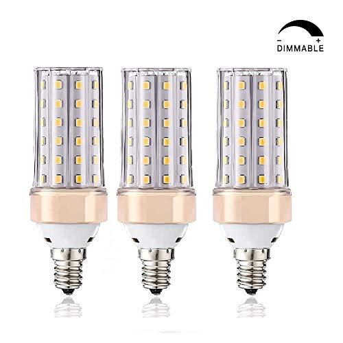 E14-LED-Leuchtmittel, ILAMIQI 10 W LED Kerzenleuchter, entspricht 100 Watt, 1200 lm, dekorativer Kerzensockel, E12 Mais, Dimmbar Leuchtmittel, LED Kronleuchter, Warmweiß 3000 K LED-Lampe, 3 Stück