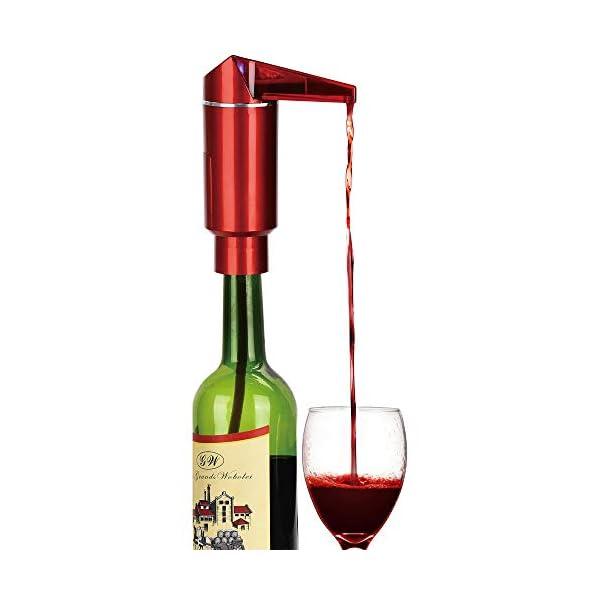 Aireador eléctrico de vino, bomba de decantador de vino portátil de operación