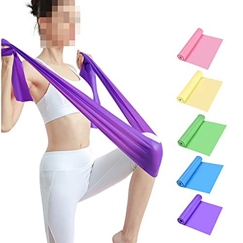 FGJH Bandas elásticas para Bandas de Goma de Resistencia a la condición física Conjunto de 5 Niveles de Entrenamiento físico Pilates Deporte Gimnasio Equipo de Entrenamiento 0427