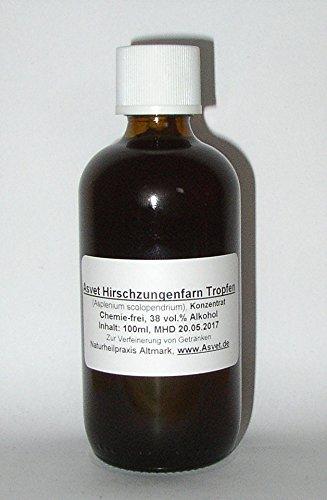 Asvet 100ml Hirschzungenfarn Tropfen, Tinktur, Extrakt, Konzentrat, ohne Chemie !