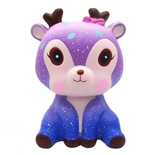 Squishys Kawaii Ciervo, Galaxia Kawaii Deer Squishies Lento Creciente Crema perfumada Squishy Squeeze Toys, Regalo de los niños, Juguete de la descompresión