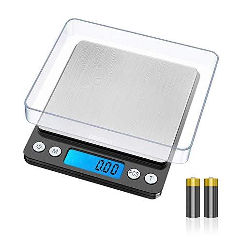 GRIFEMA - Báscula de Cocina con Pantalla LCD, Digital, Balanza con Tapa, Acero Inoxidable [Exclusivo en Amazon]