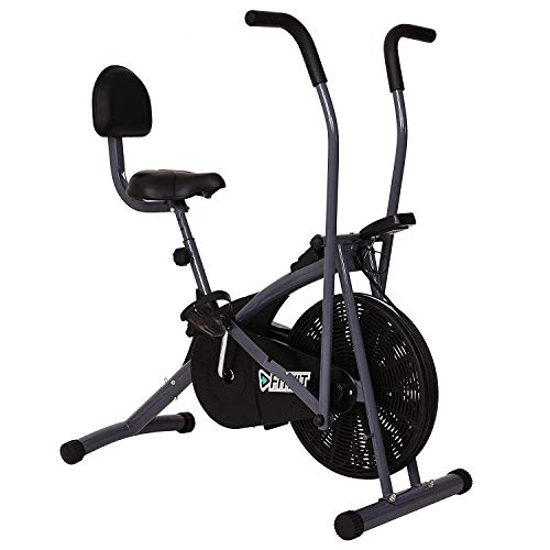 Fitkit FK600 Steel Airbike with Back Support and...