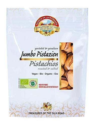 Pistachos asados y salados orgánicos 700g grandes, BIO nueces, con piel, aromáticos 7x100g