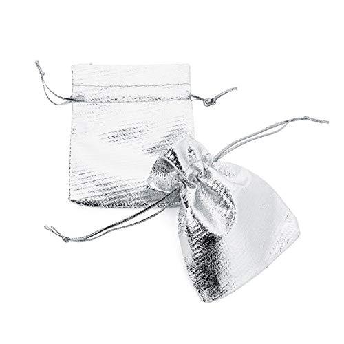 KSFBHC 10pcs / joyería Ajustable Embalaje 7x9cm 9x12cm 10x15cm 13x18cm Bolsa de dibujable Boda de Navidad (Color : Silver, Size : 10x15cm)