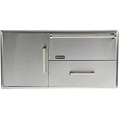 Coyote 42-Inch Access Door and Drawer Combo with Warming Drawer - CCD-WD