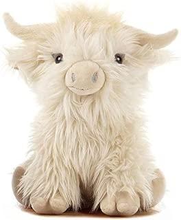 26cm Large Highland Cow Plush Soft Toy - Cream