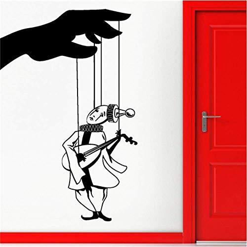 Etiqueta De La Pared Decoración Del Hogar 70 Cm * 44 Cm Etiqueta De La Pared Vinilo Calcomanía Teatro De Marionetas Decoración Interesante Interesante