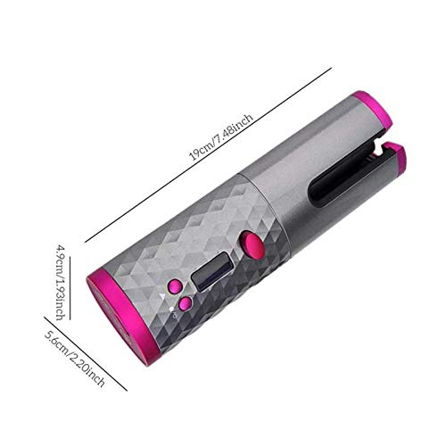 2020 Cordless Auto Rotating Hair Curler Hair Waver Curling Iron Wireless LCD Ceramic-Best