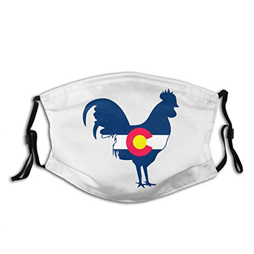 Face Scarf Colorado Flag Chicken Pattern Cycling Unique Mouth Protection Anime Face Protection Adjustable Reusable Windproof Outdoor Hiking Face Scarf Durable Breathable Gift Shop