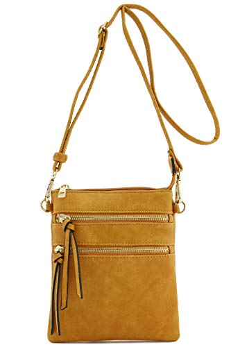 Functional Multi Pocket Crossbody Bag (Mustard)