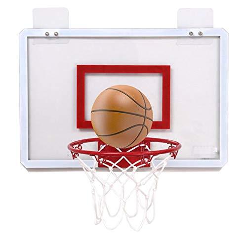 MHCYKJ Canasta Baloncesto Interior Casa De para Niños Colgar sobre Puertas Tablero Aro Montado En La Pared Oficina Mini Junta Deportes