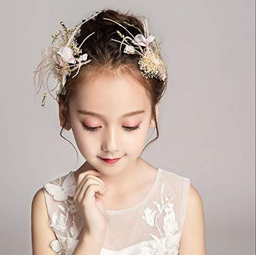 Meisjes Headdress Bloem Fairy Hoofdband Bloem Meisje Bruiloft Jurk Accessoires Kind Prinses Haaraccessoires Prestaties Sieraden