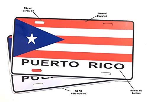 Puerto Rico Flag License Plates for Cars Automobile Puerto Rico Boricua Style (2)