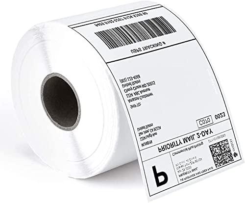 Etichette termiche dirette 4'X 6', etichette perforate per spedizione, compatibili con le stampanti desktop NETUM NT-LP110A - 1 rotolo, 500 / rotolo