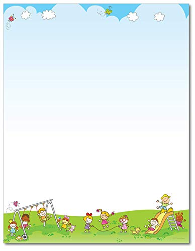 Let's Play Stationery Paper - 80 Sheets - Great For School Functions, Camps, and Parties