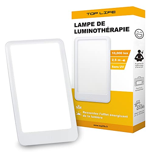 Lámpara de Luminoterapia 10,000 lux - Manténgase en forma durante toda la temporada - Lámpara de luz diurna de espectro completo - Mejora el estado de ánimo y la moral