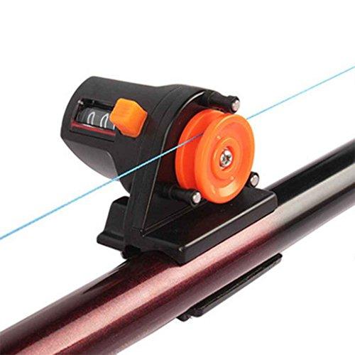 Mengonee 0-999M Buscador de Pesca Conveniente Portátil Línea de Longitud Profundímetro Counter Tool Tackle