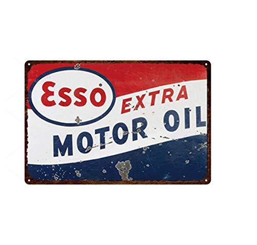 yuandp Auto Motor Öl Zinn Zeichen Garage Wanddekoration Retro rostigen Metall Zeichen Motorrad Club Reparaturwerkstatt Wandpaneel Dekoration 20x30cm 8