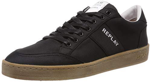 Replay Herren DPREET Sneaker, Schwarz (Black 3), 41 EU