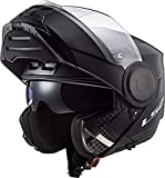 LS2 Scope Casco de Moto, Unisex-Adult, Nero Opaco, XS