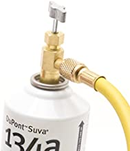 Kozyvacu R134a Refrigerant Self-Piercing Can Tap Valve with 1/4 Flare port for AUTO AC recharging, Easily connecting with Quick Coupler