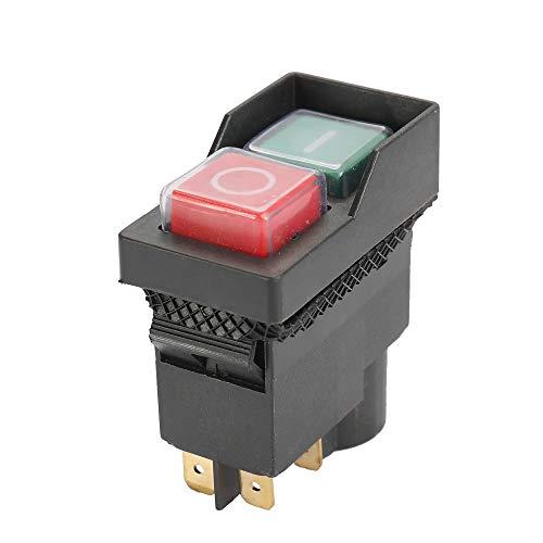 KKmoon Interruptor de Seguridad 250-Voltaje Universal S-afe Cut Off Interruptores Impermeables y a Prueba de Polvo Interruptor Electromagnético para Rectificadora