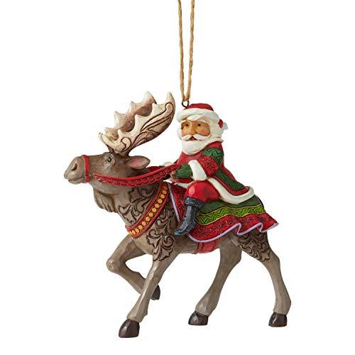 Enesco TFBH New Jim Shore Heartwood Creek JS Santa Riding Moose HO Figurine