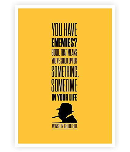 LAB NO 4 You've Stood up for Something - Winston Churchill Inspirational Quotes Typography Print Poster in A3 (16.5