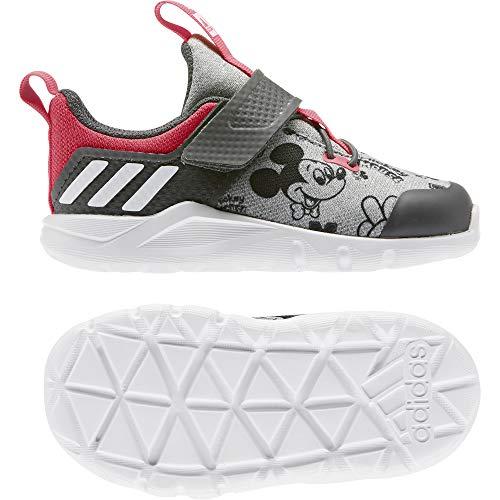 adidas Unisex Baby Rapidaflex Mickey EL I Turnschuhe Fitness und Bewegung, Grau Medium Grey Heather FTWR White Grey Six, 21 EU