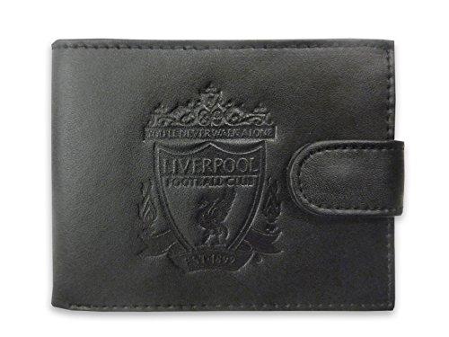 Liverpool FC - Cartera oficial con el escudo grabado - Cuero - Viene en una caja de regalo