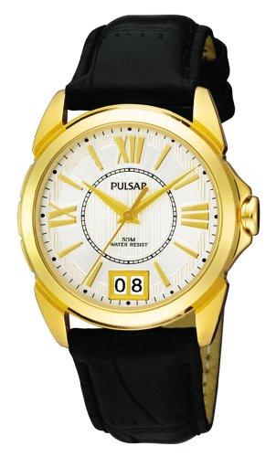 Pulsar Damen-Armbanduhr XS Havana Analog Leder PQ5014X1